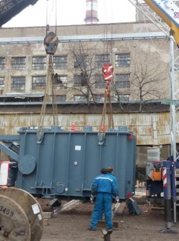 ТЕЦ София: Монтаж на 42т. трансформатор с два автокрана LIEBHERR LTM 1040 и LIEBHERR LTF 1030