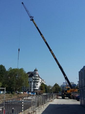 """Метростанция """"Зад Канала"""": Подготовка на строителната площадка"""
