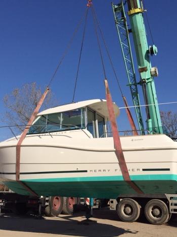 Разтоварване на лодка